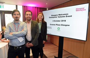 Glasgow Welcomes event